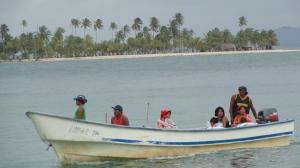 Nosso barco chegando